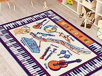 Коврик для детской комнаты 133х190 Confetti MUSIC ANTI-SLIP 01 бежевый