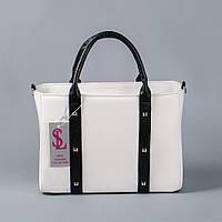 Стильная белая матовая прямоугольная сумочка art. 1345wn3