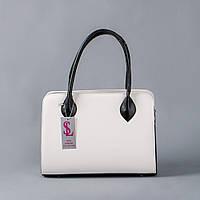 Стильная белая женская матовая сумка art. 1346wn3