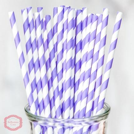 Коктейльная трубочка Лаванда с белым