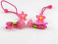 Набор детский цветочек (уточка+резинка) акрил Лента 40шт