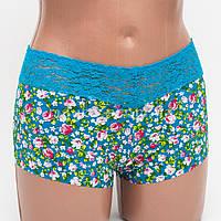 Бесшовные трусики шортики женские Me moda 1503 цвет бирюза р.48-50 k3081-481