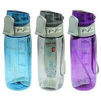"""Бутылка для воды с поилкой пластиковая """"Стиль"""" 550 мл."""
