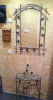 Столик пристенный, зеркало, ключница и подсвечник. Удобно, практично, надежно и компактно!
