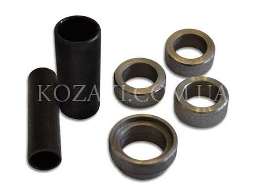 Комплект обжимки донца гильзы для УПС 16 калибр (2 трубки 4 кольца) стальной