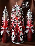 Венчальный набор красиво украсит свадьбу, под заказ может быть в любом цвете