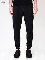 Мужские черные штаны Forest cargo BLACK 6Pockets Pants K0002