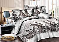 Полуторный комплект постельного белья 150*220 сатин (6994) TM KRISPOL Україна