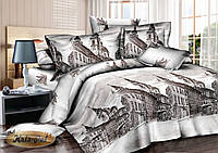 Двуспальный комплект постельного белья евро 200*220 сатин (6998) TM KRISPOL Украина