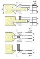 Комплект фрез для изготовления дверей с остеклением с термошвом М-0141-01