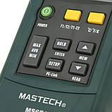 Двухканальный термометр Mastech MS6514 (-200~1372℃) с совместимостью с термопарами К,J,T,E,R,S,N типов, ПО, фото 3