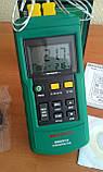 Двухканальный термометр Mastech MS6514 (-200~1372℃) с совместимостью с термопарами К,J,T,E,R,S,N типов, ПО, фото 4