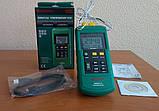 Двухканальный термометр Mastech MS6514 (-200~1372℃) с совместимостью с термопарами К,J,T,E,R,S,N типов, ПО, фото 5