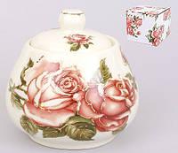 Сахарница фарфоровая 400мл Корейская роза