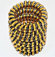 """Резинка для волос силикон """"золотистая"""" (10 шт)"""