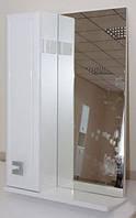 Зеркало Аква Родос Мобис 55 с полкой и пеналом слева, 545х170х820 мм
