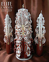 Свадебный набор красиво украсит свадьбу, под заказ может быть в любом цвете