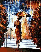 Картина раскраска по номерам на Mariposa Девушка под зонтом худ Афремов, Леонид (MR-Q681) 40 х 50 см