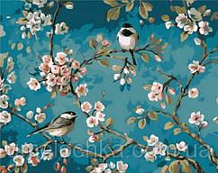 Раскраска по номерам Mariposa Синички на яблоне (MR-Q1083) 40 х 50 см