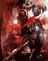 Картина раскраска по номерам на холсте Mariposa Огненный танец (MR-Q685) 40 х 50 см