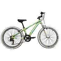 87c41c1e249a Горный велосипед Mascotte Tim 24» alloy, зелено-сине-белый подростковый