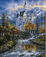 Картина-раскраска Mariposa Замок Нойшванштайн худ Финале, Роберт (MR-Q2100) 40 х 50 см