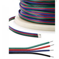 Кабель плоский 4*0.35мм2 для RGB ленты