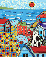 Живопись по номерам Идейка Кот на крыше Худ Карла Герард (KH2154) 40 х 50 см