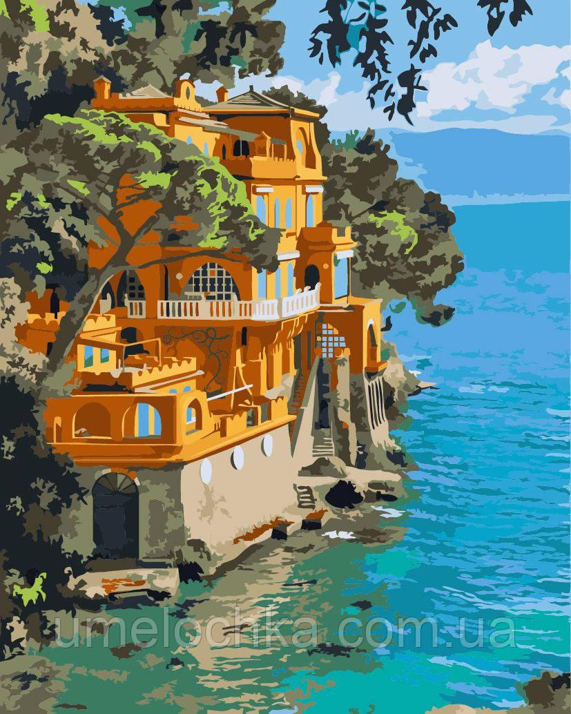 Картина-раскраска Идейка Портофино, Италия Худ Сунг Ким (KH2217) 40 х 50 см