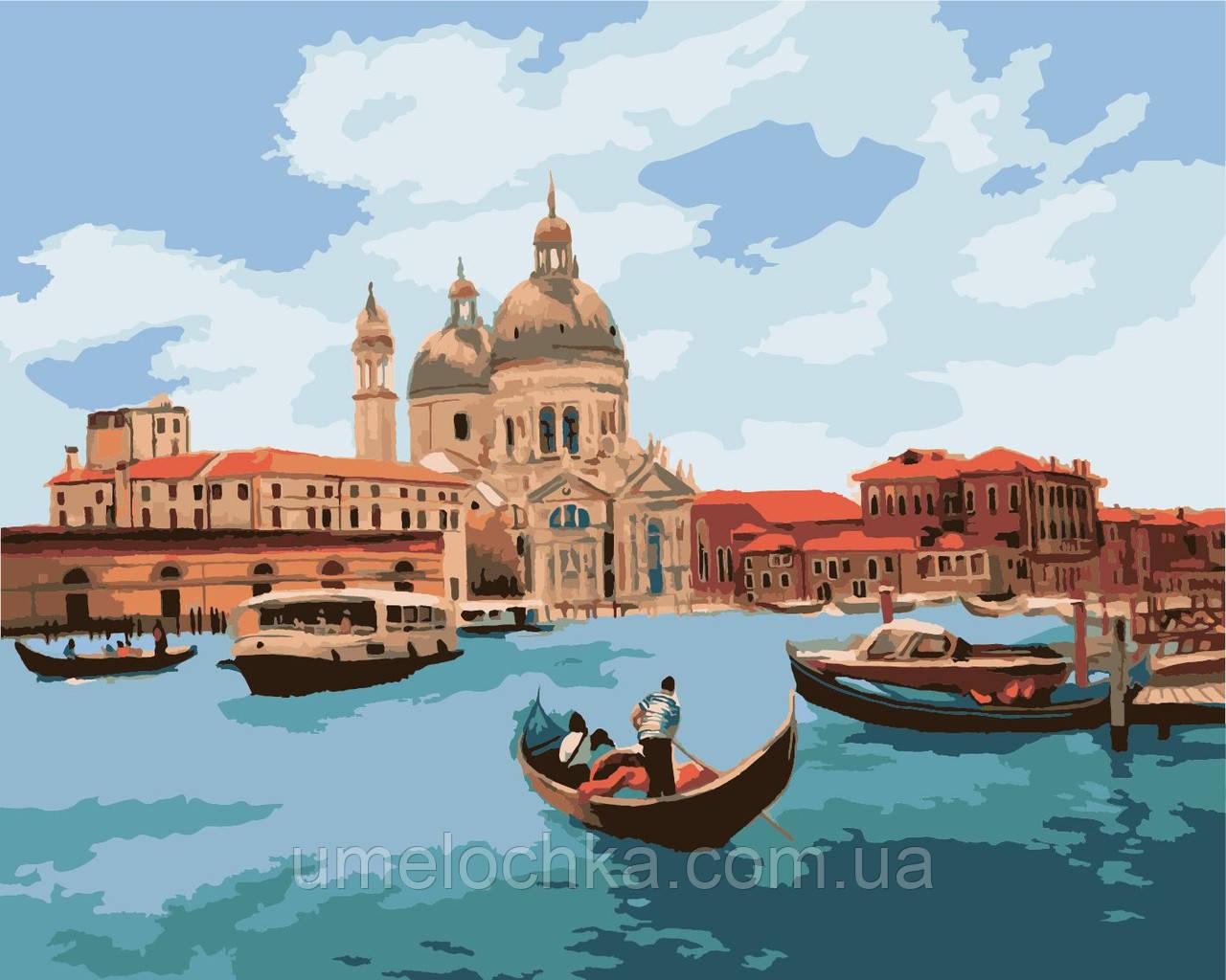 Картина по номерам на холсте без коробки Идейка Полдень в Венеции (KHO2118) 40 х 50 см
