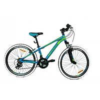 Горный велосипед Mascotte Phoenix 24» alloy , сине - зеленый подростковый  2017 38edcf46b90
