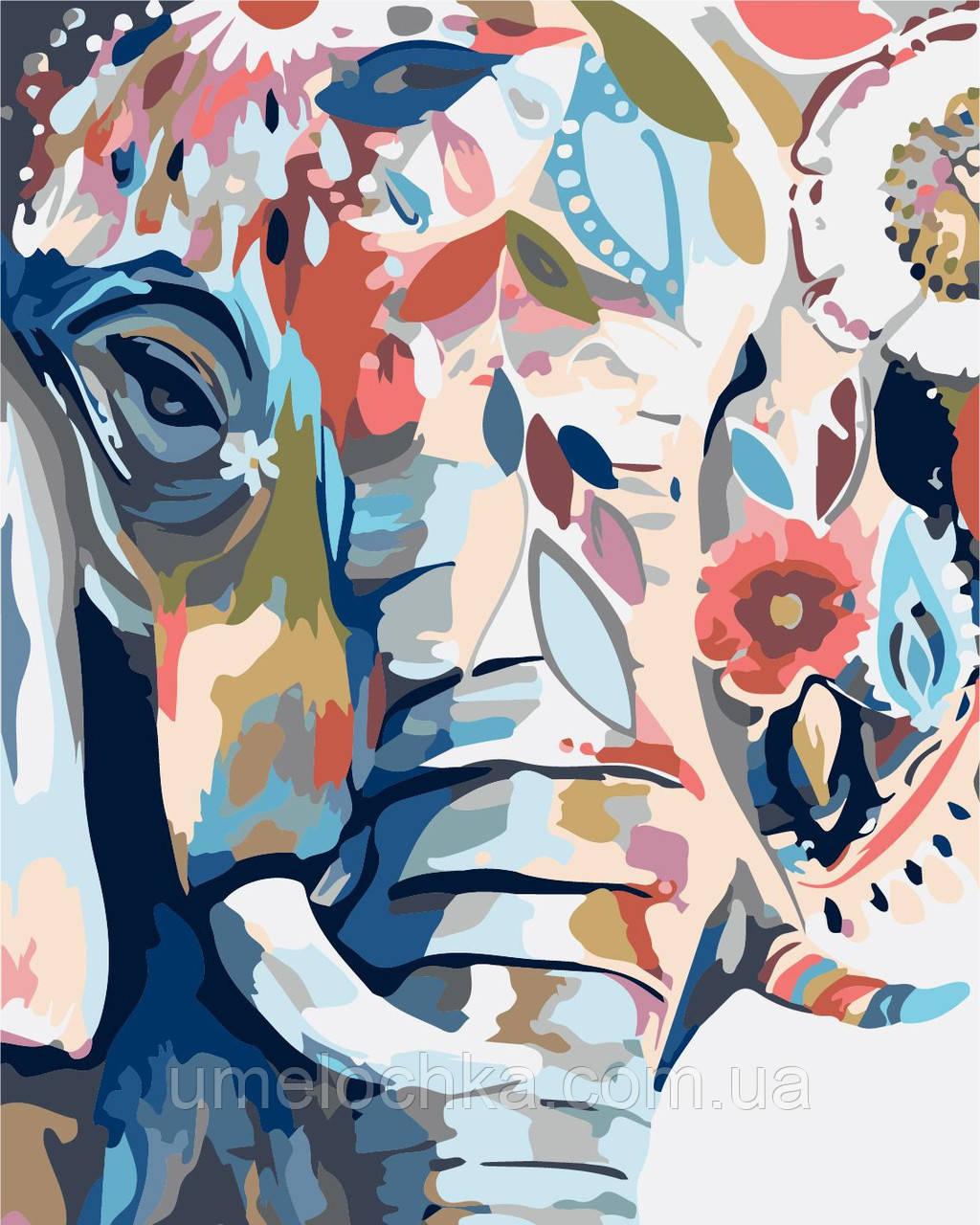 Картина по номерам без коробки Идейка Восточные краски (KHO2470) 40 х 50 см