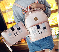 Рюкзак с клатчем кошки для девушек