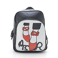 Женский рюкзак с фоторисунком красные балетки