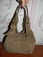 Коричневая замшевая сумка Accessorize