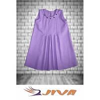 Льняное платье с натуральными камнями DJIVA фиолет. Размер: 98-140