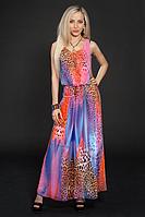 Яркое шифоновое платье Ульяна