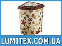 Угловая корзина для белья в ванную комнату Морские звезды