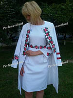 Платье женское с вышивкой СЖ 102