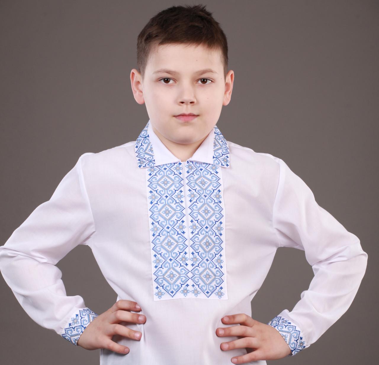 7a31086f3872b9 Красивая вышиванка для мальчика на кнопках