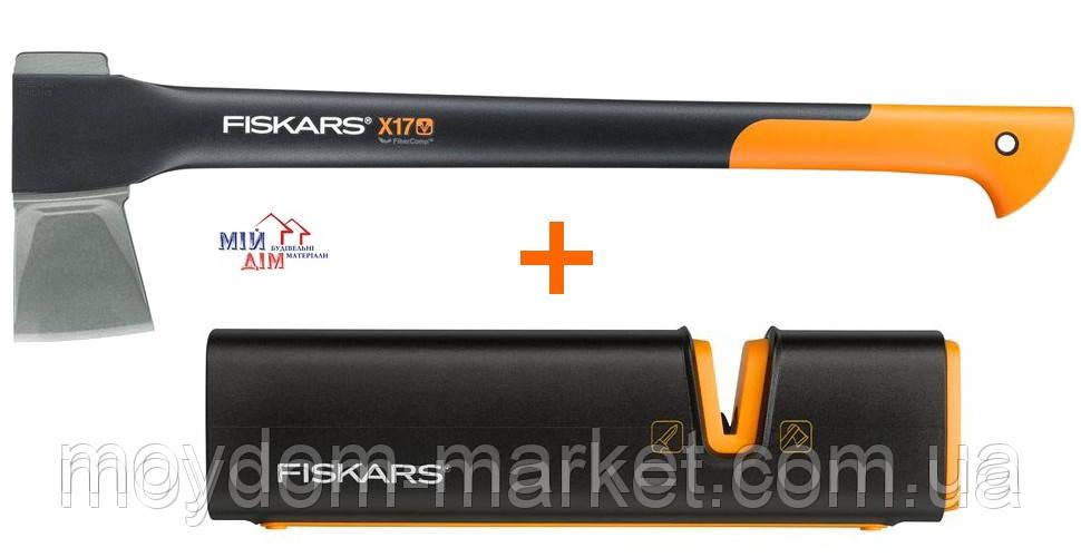 Сокира-колун Х17 1570гр.+точилка 122466 /Fiskars