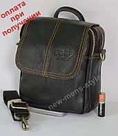 Мужская кожаная натуральная сумка, барсетка бренд Polo, Jeep Оригинал!