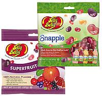 Набор конфет Jelly Belly Superfruit Mix и  Jelly Belly Snapple со вкусом фруктовых соков