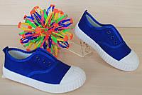 Детские синие кеды для мальчика, текстильная обувь тм Том.м р.27,28