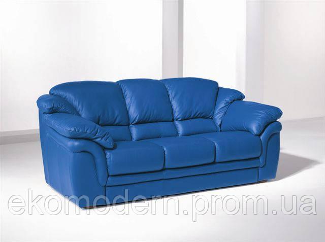 Диван кожаный мягкий ЛОНДОН-304 для дома, офиса и ресторана