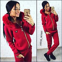 Женский теплый спортивный костюм с мехом у-78004