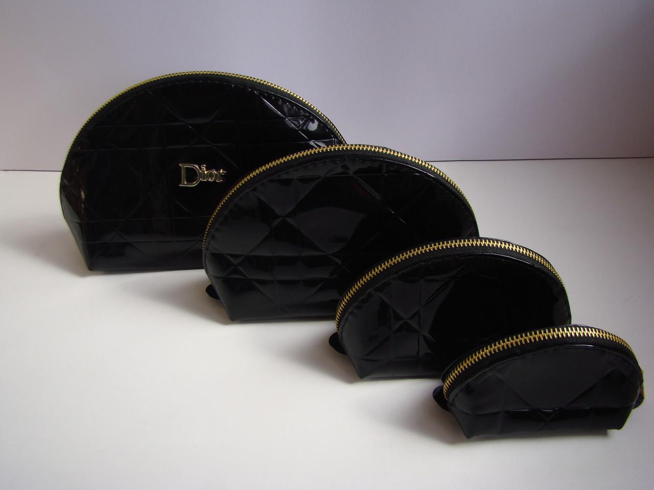 Милый набор косметичек  4в1 , черная
