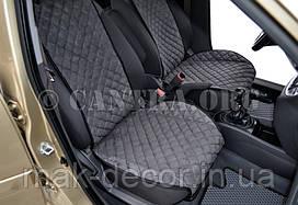 Накидки из алькантары на передние сидения (широкие)