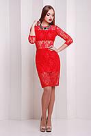Женское красное платье Паседена Glem 46 размер