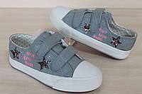 Кеды слипоны на девочку подросткатильные детская спортивная обувь Тom.m р. 33,35,36,37
